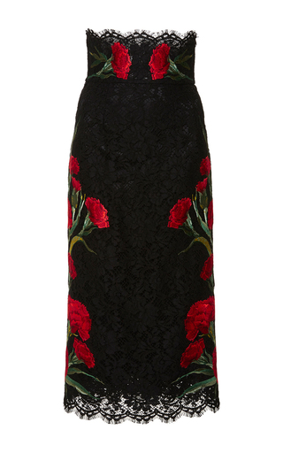 High waisted lace floral skirt by DOLCE & GABBANA Available Now on Moda Operandi