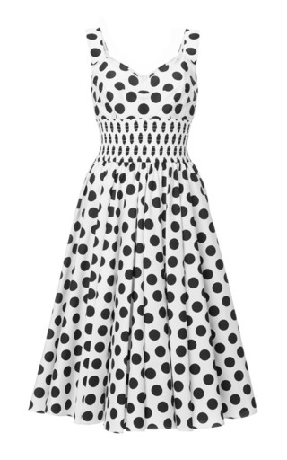 Popeline pois dress by DOLCE & GABBANA Available Now on Moda Operandi