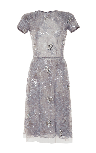 Embroidered open-back dress by NAEEM KHAN Available Now on Moda Operandi