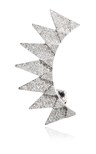 Diamond sun ear cuff by RUNA Available Now on Moda Operandi