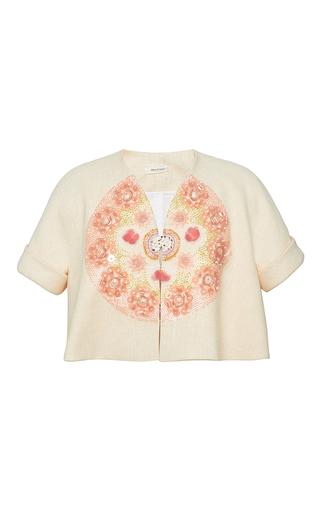 Embellished double sided canvas jacket by DELPOZO Available Now on Moda Operandi