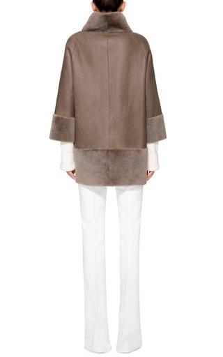 Shearling Taupe Coat By Rizal Moda Operandi