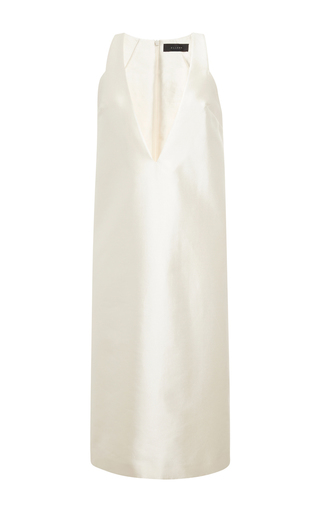 Ivory silk satin infinity dress by ELLERY Available Now on Moda Operandi