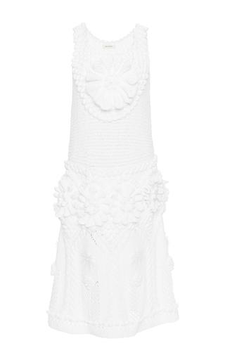 Optical white cotton dress by DELPOZO Now Available on Moda Operandi