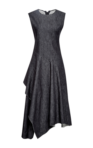 Twisted twill denim dress  by MARNI Available Now on Moda Operandi