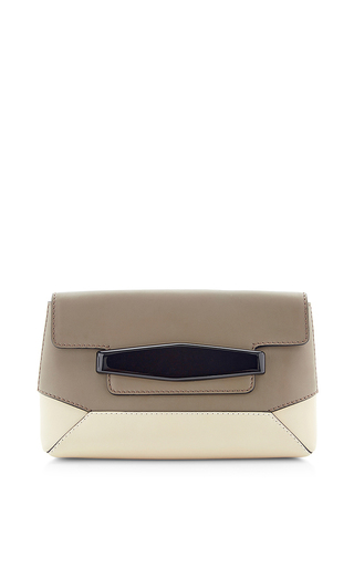 Color block calfskin leather pochette by MARNI Available Now on Moda Operandi