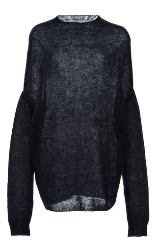 Mohair Wool Blend Knit Top by RICK OWENS Now Available on Moda Operandi