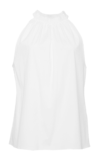 White sleeveless lee halter top  by A.L.C. Now Available on Moda Operandi