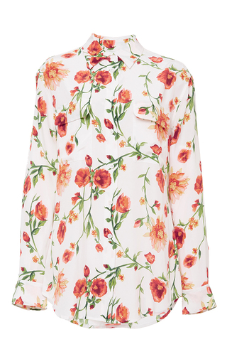 Signature floral top by EQUIPMENT Now Available on Moda Operandi