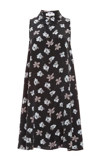 Black Silk Mina Sleeveless Dress by EQUIPMENT Now Available on Moda Operandi