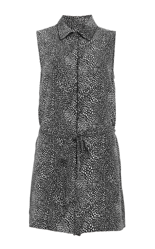 Silk sleeveless earl romper with piping by EQUIPMENT Available Now on Moda Operandi