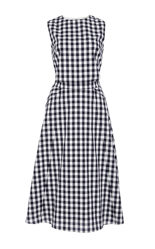 Textured cotton gingham shirting monica dress by TANYA TAYLOR Now Available on Moda Operandi