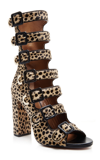 Calf hair leopard print buckle ankle boots by AQUAZZURA Now Available on Moda Operandi