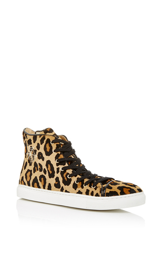 Leopard printed pony skin purrrfect high tops by CHARLOTTE OLYMPIA Now Available on Moda Operandi