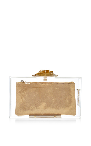 Transparent decorative pandora clutch  by CHARLOTTE OLYMPIA Available Now on Moda Operandi