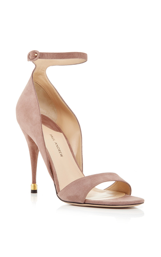 Taupe Westside Kid Skin Pumps by PAUL ANDREW Now Available on Moda Operandi