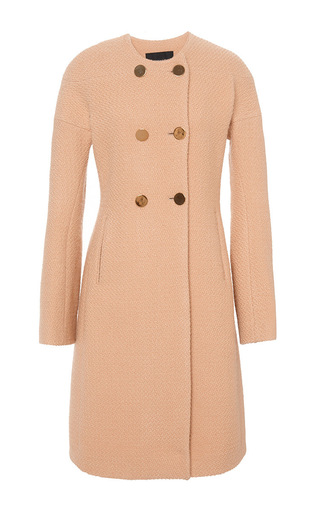 Rounded double breasted long coat  by DEREK LAM Available Now on Moda Operandi