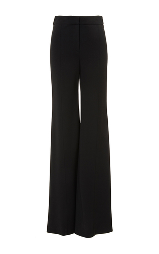 Black high-waisted flared stretched crepe trousers  by DEREK LAM Now Available on Moda Operandi