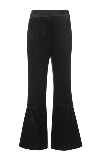 Black bonded satin trouser by MARNI Available Now on Moda Operandi