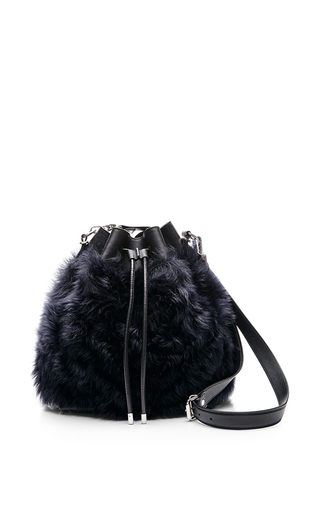 Large shearling bucket bag by PROENZA SCHOULER Available Now on Moda Operandi
