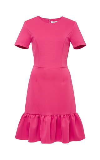 Pink lotus dropped ruffle dress by OPENING CEREMONY Now Available on Moda Operandi