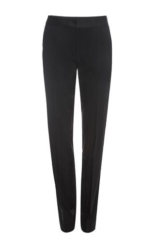 Black wool classic straight leg pants by PRABAL GURUNG Available Now on Moda Operandi