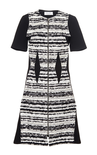 Striped tweed midi dress by PRABAL GURUNG Now Available on Moda Operandi