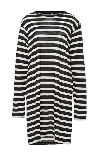 Cotton cashmere striped long sleeved dress by R13 Now Available on Moda Operandi