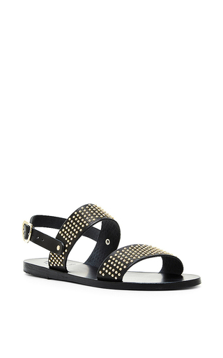 Black dindami two strap slingback sandals by ANCIENT GREEK SANDALS Now Available on Moda Operandi
