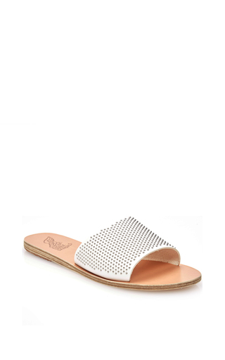 Taygete Leather Slip On Sandals by ANCIENT GREEK SANDALS Now Available on Moda Operandi