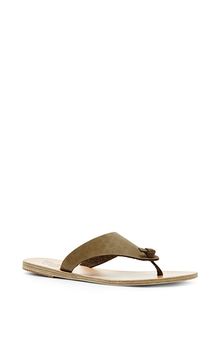 Igia leather flat flip flop sandals by ANCIENT GREEK SANDALS Now Available on Moda Operandi