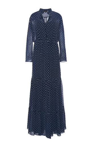 Alexia long sleeved maxi dress by SALONI Available Now on Moda Operandi