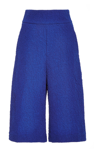 Blue elena-b culottes by SALONI Now Available on Moda Operandi