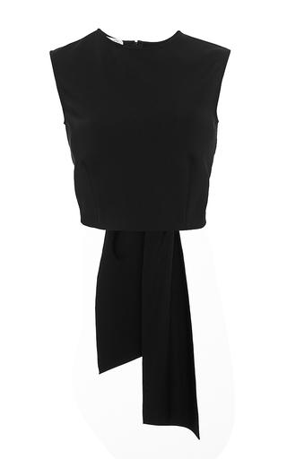 Black bow back top by OSCAR DE LA RENTA Available Now on Moda Operandi