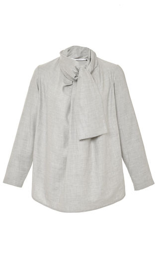 Cotton cashmere scarf wrap shirt by ROSETTA GETTY Now Available on Moda Operandi