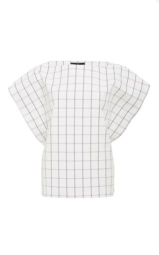 Seersucker tie back top by TIBI Available Now on Moda Operandi