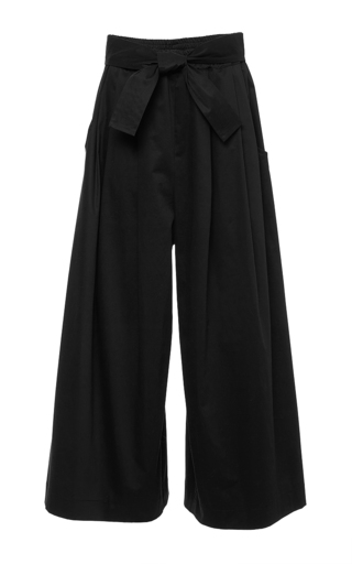 Black cotton poplin karate pants by TOME Now Available on Moda Operandi