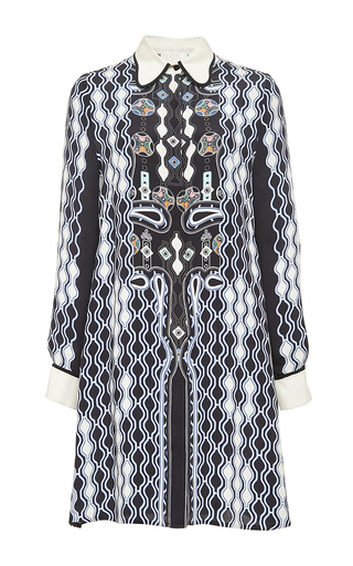 Printed silk ace shirtdress by PETER PILOTTO Now Available on Moda Operandi