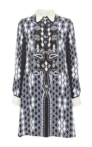 Printed silk ace shirtdress by PETER PILOTTO Now Available on Moda Operandi