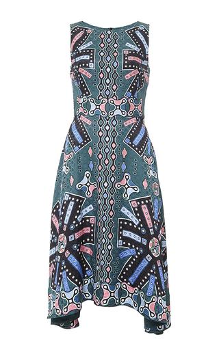 Silk printed sleeveless midi dress by PETER PILOTTO Now Available on Moda Operandi