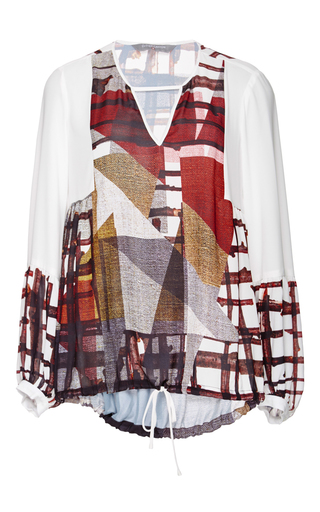 Gradient Plaid Long Sleeved Blouse by CLOVER CANYON Now Available on Moda Operandi