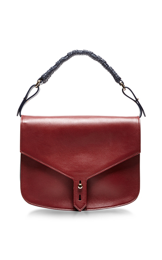 Bicolor calf leather single sided hudson bag by THAKOON Now Available on Moda Operandi