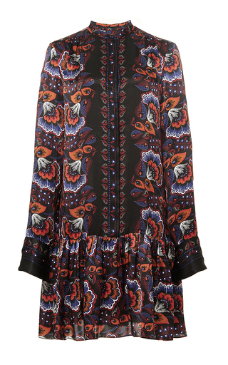 Silk gathered peplum shirtdress by THAKOON Now Available on Moda Operandi