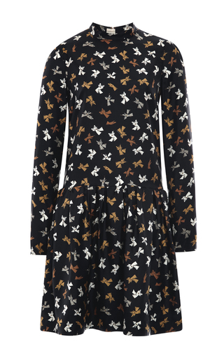 Silk printed drop waist dress by ROCHAS Now Available on Moda Operandi