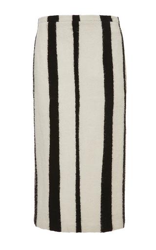 Virgin wool blend striped pencil skirt by ROCHAS Now Available on Moda Operandi