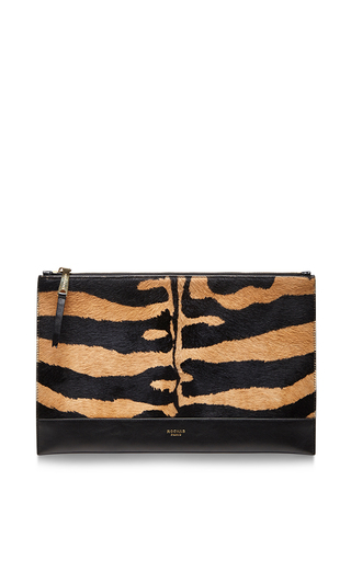 Medium beige zip pouch by ROCHAS Now Available on Moda Operandi