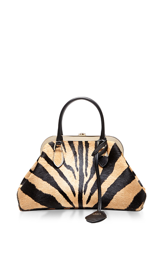 Calf leather animal oversized handbag by ROCHAS Now Available on Moda Operandi