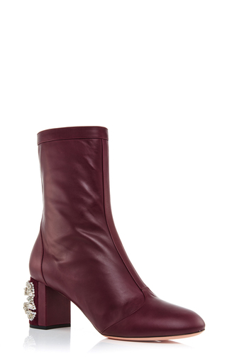 Leather beaded heel boots by ROCHAS Now Available on Moda Operandi