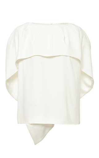 Off-white cape top by ANTONIO BERARDI Available Now on Moda Operandi