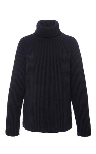 Navy cashmere turtleneck sweater by ANTONIO BERARDI Available Now on Moda Operandi